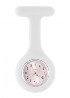 Montre Infirmière Standard Silicone Blanc