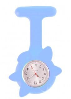 Montre Infirmière Printemps en Silicone Fleur Bleu