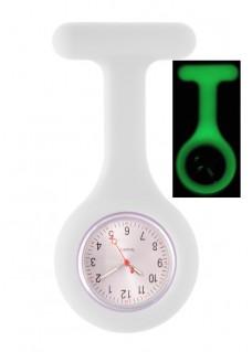 Montre Infirmière en Silicone Luminescente Blanc