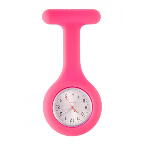 Montre Infirmière Standard Silicone Rose
