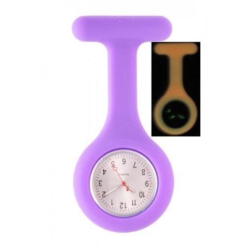 Montre Infirmière en Silicone Luminescente Violet