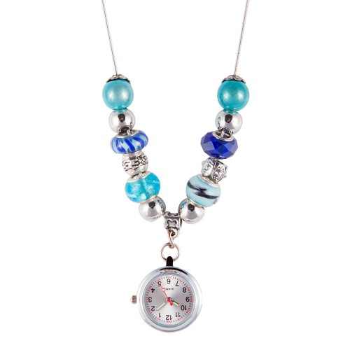 Collier Montre Perle Turquoise