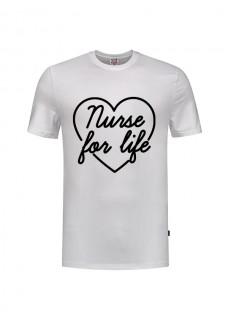 T-Shirt Nurse For Life Blanc