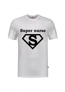 T-Shirt Super Nurse 1 Blanc