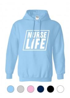 Hoodie Gildan Nurse Life Square