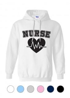 Hoodie Gildan Nurse ECG