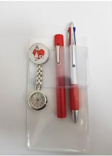 Pochette Protectrice A6 Blanc + Accessoires Rouge
