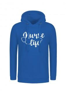 Hoodie Nurse Life Bleu