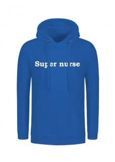 Hoodie Super Nurse Bleu