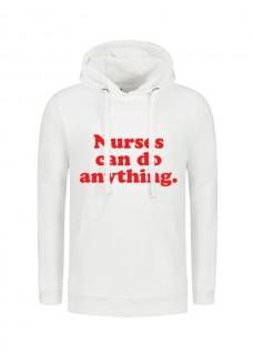 Hoodie Nurses Can Do Anything Blanc