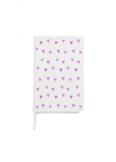 Cahier A5 Coeurs Roses