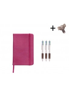 Set Cahier A5 + Stylos Rose