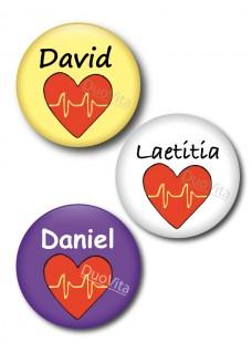 Badge Pins Coeur