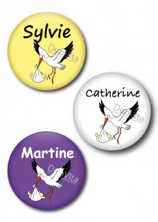 Badge Pins Cigogne