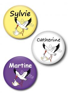Badge Pins Cigogne