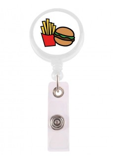 Porte Badge Enrouleur Hamburger