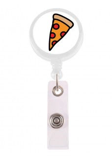 Porte Badge Enrouleur Pizza