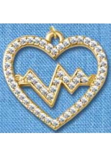 Pendentif Battement de Coeur Or grand