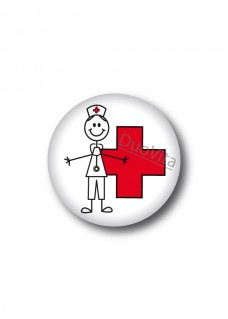 Badge Stick Nurse Cross