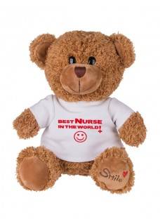 Nounours Best Nurse In The World avec Nom Imprimé