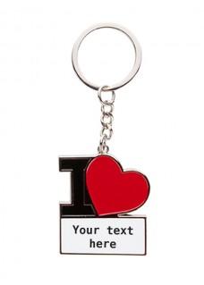 Porte-Clés I Love Nursing avec Nom Imprimé
