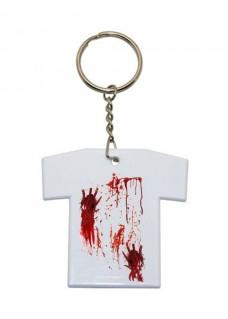 Porte-Clés T-Shirt Taches de sang