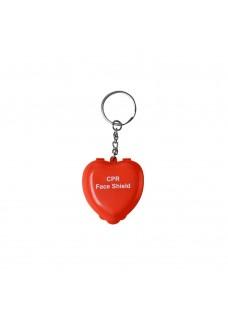 CPR Masque Porte-clés Cœur Rouge