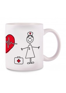 OUTLET - Tasse Stick Nurse Blanc