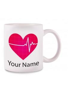 Tasse ECG avec Nom Imprimé
