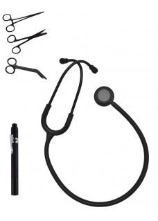 Hospitrix Kit D'instruments Stealth Black avec Gravure Gratuit