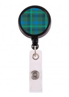 Porte Badge Enrouleur Tartan Vert