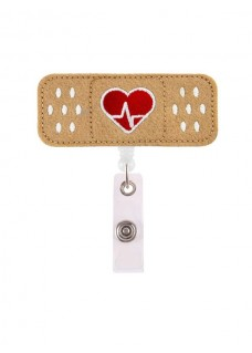 Porte Badge Band AID Coeur