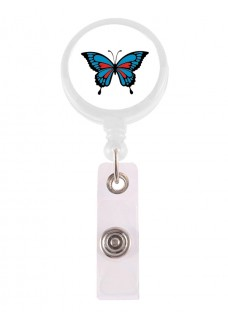 Porte Badge Enrouleur Papillon