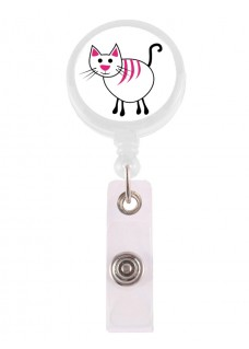 Porte Badge Enrouleur Chat