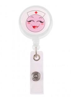 Porte Badge Enrouleur Happy Infirmière