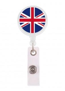 Porte Badge Enrouleur Union Jack