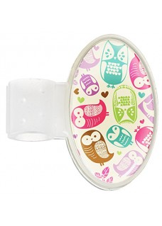 Badge Stéthoscope Owl Cream