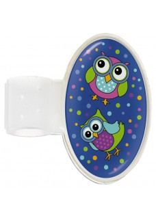 Badge Stéthoscope Owl Blue Party