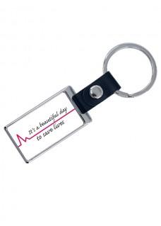 Porte-Clés de Luxe Beautiful Day avec Nom Imprimé