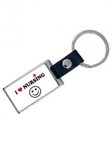 Porte-Clés de Luxe Love Nursing avec Nom Imprimé