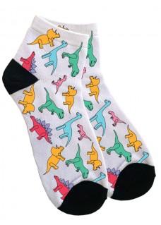 Chaussettes de Cheville pour Femmes Petits Dinosaures