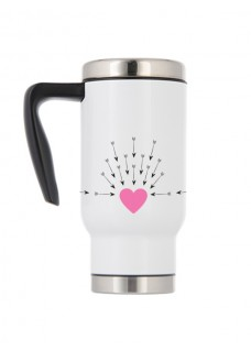 Mug Isotherme Cœur Flèches