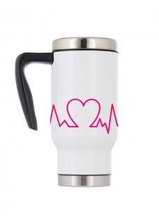 Mug Isotherme Battement de Coeur