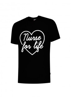 T-Shirt Nurse For Life Noir