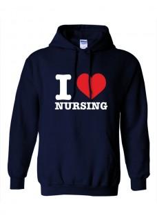 Hoodie Gildan I Love Nursing