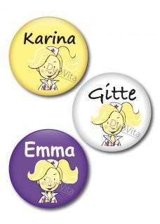 Badge Pins Infirmière Blonde