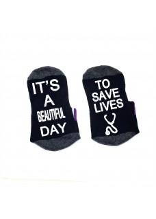 Socquettes Noir Beautiful Day