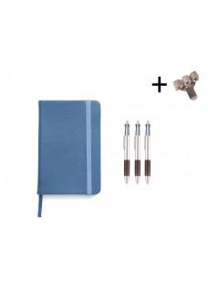 Set Cahier A5 + Stylos Bleu