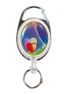 Badge Enrouleur Luxe Coeurs