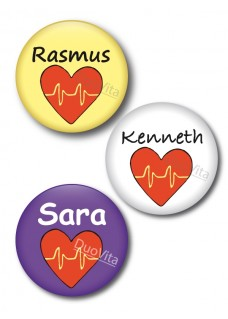 Badge Pins Coeur
